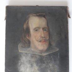 Arte: RETRATO DEL REY FELIPE IV. COPIA DE DIEGO VELÁZQUEZ. ¿FINALES SIGLO XVIII, INICIOS DEL XIX?. Lote 157964526