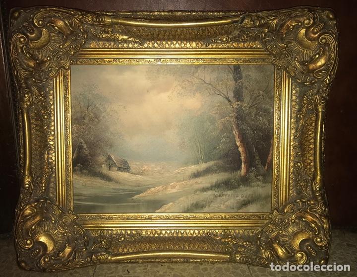 Arte: Cuadro pintura al óleo firmado Ceferino Olive enmarcado con marco estilo barroco - Foto 2 - 157969836