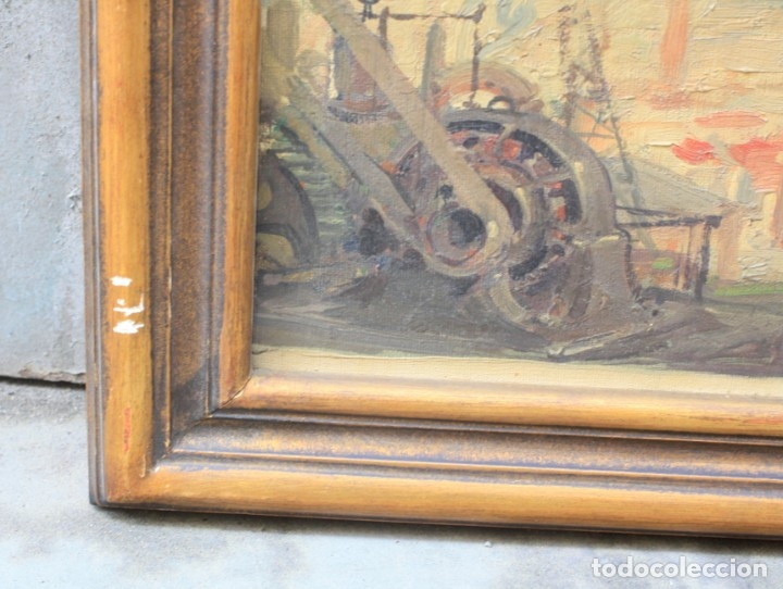 Arte: Alegorías de industria y pesca, dos proyectos, atribuido a Enric Pascual Monturiol, óleo sobre tela. - Foto 6 - 158230758