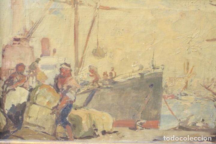 Arte: Alegorías de industria y pesca, dos proyectos, atribuido a Enric Pascual Monturiol, óleo sobre tela. - Foto 10 - 158230758