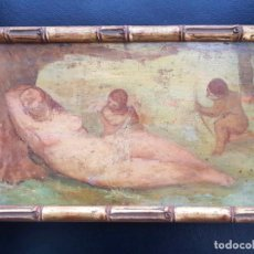 Arte: BONIFACIO LÁZARO LOZANO , ÓLEO SOBRE TABLA . FIRMADO . DESNUDO FEMENINO. Lote 158272578