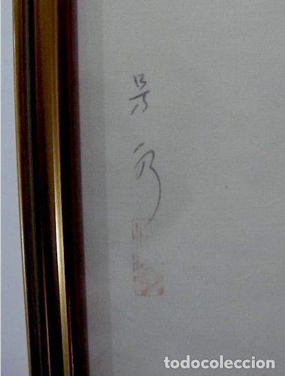 Arte: PINTURA CHINA SOBRE SEDA, FIRMADA - Foto 3 - 158422070