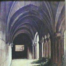 Arte: CASAMAR OLEO SOBRE TELA INTERIOR IGLESIA FIRMADO Y FECHADO. Lote 158424898