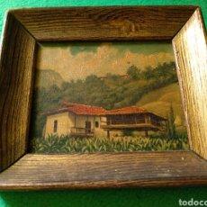 Arte: PEQUEÑO CUADRO DE PINTURA SOBRE TABLA. Lote 158483769