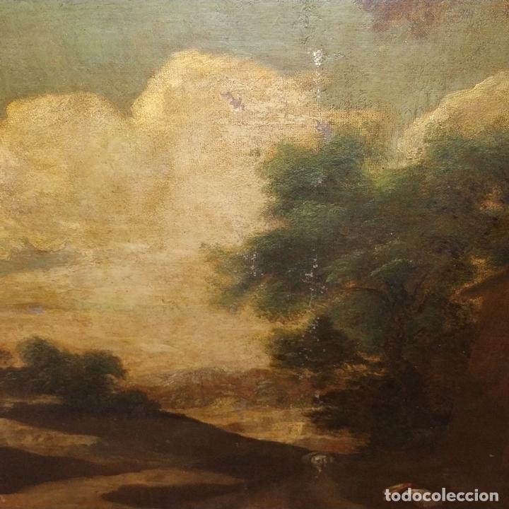 Arte: PAISAJE CON RUINAS. ÓLEO SOBRE LIENZO. ESCUELA ITALIANA. ITALIA. XVII-XVIII - Foto 7 - 158525874