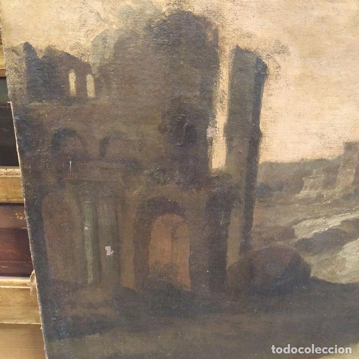 Arte: PAISAJE CON RUINAS. ÓLEO SOBRE LIENZO. ESCUELA ITALIANA. ITALIA. XVII-XVIII - Foto 11 - 158525874