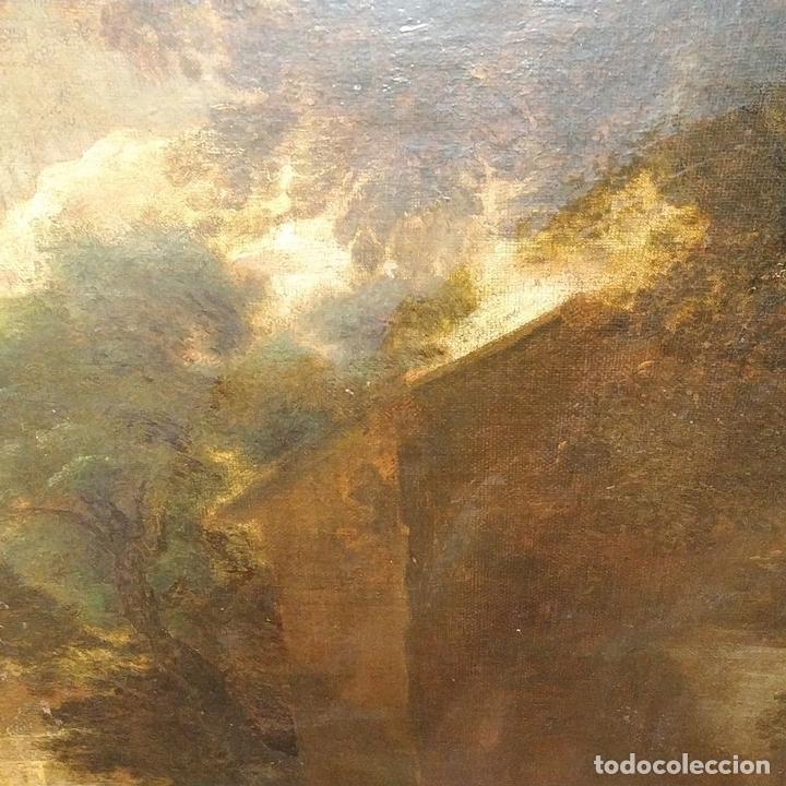 Arte: PAISAJE CON RUINAS. ÓLEO SOBRE LIENZO. ESCUELA ITALIANA. ITALIA. XVII-XVIII - Foto 12 - 158525874