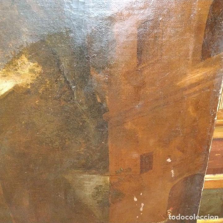 Arte: PAISAJE CON RUINAS. ÓLEO SOBRE LIENZO. ESCUELA ITALIANA. ITALIA. XVII-XVIII - Foto 14 - 158525874
