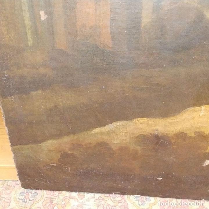 Arte: PAISAJE CON RUINAS. ÓLEO SOBRE LIENZO. ESCUELA ITALIANA. ITALIA. XVII-XVIII - Foto 16 - 158525874