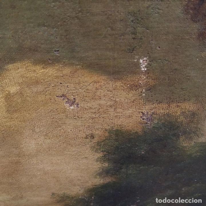 Arte: PAISAJE CON RUINAS. ÓLEO SOBRE LIENZO. ESCUELA ITALIANA. ITALIA. XVII-XVIII - Foto 20 - 158525874