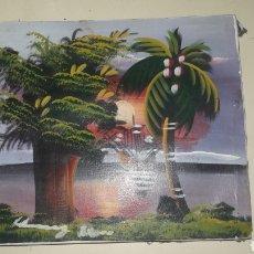 Arte: CUADRO CUBANO OLEO SOBRE TELA ANTIGUO. Lote 158525978