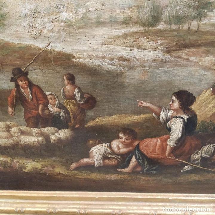 Arte: PAISAJE CON CAMPESINOS. ÓLEO SOBRE LIENZO. ESCUELA ITALIANA. ITALIA. XVIII-XIX - Foto 14 - 158532262