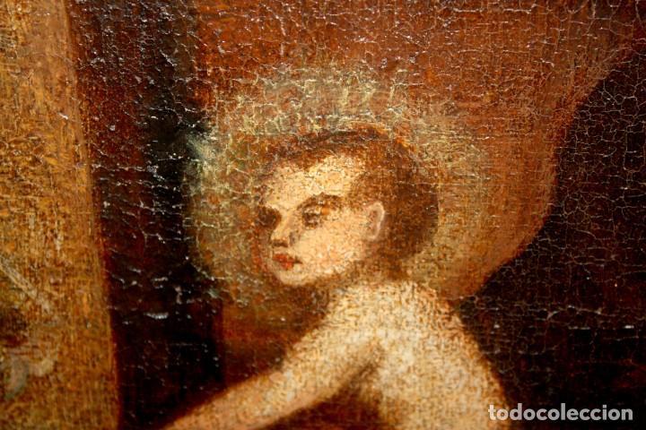 Arte: ESCUELA ESPAÑOLA DE PRINCIPIOS SIGLO XVIII OLEO TELA. ADORACION DE LOS REYES MAGOS - Foto 10 - 158549314