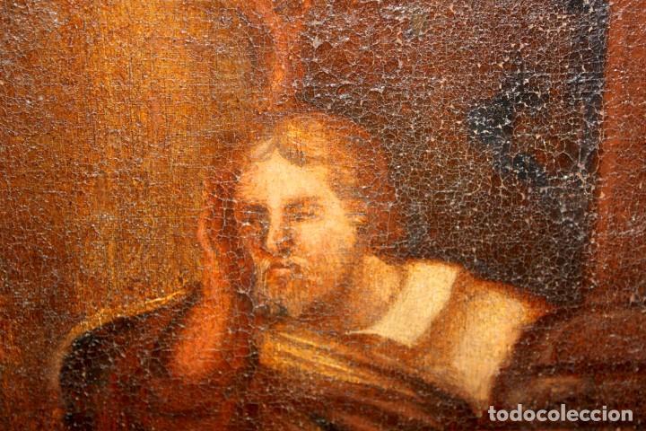 Arte: ESCUELA ESPAÑOLA DE PRINCIPIOS SIGLO XVIII OLEO TELA. ADORACION DE LOS REYES MAGOS - Foto 11 - 158549314