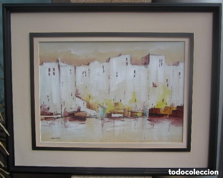 MARAVILLOSO ANTIGUO OLEO MARINO SOBRE CATÓN (Arte - Pintura - Pintura al Óleo Moderna sin fecha definida)