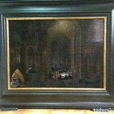 Arte: OLEO SOBRE TABLA S. XVII. HENDRICK VAN STEENWIJK EL JOVEN. (AMBERES 1580–LEIDEN O LA HAYA, 1640).. Lote 158591214