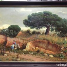 Arte: MANUEL VENTURA MILLÁN , ÓLEO SOBRE TABLA , CHIPIONA - SANLÚCAR , CÁDIZ. Lote 158610842