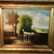 Arte: CUATRO PINTADO EN MADERA MUY BONITO ESTILO HOLANDÉS. Lote 158643797