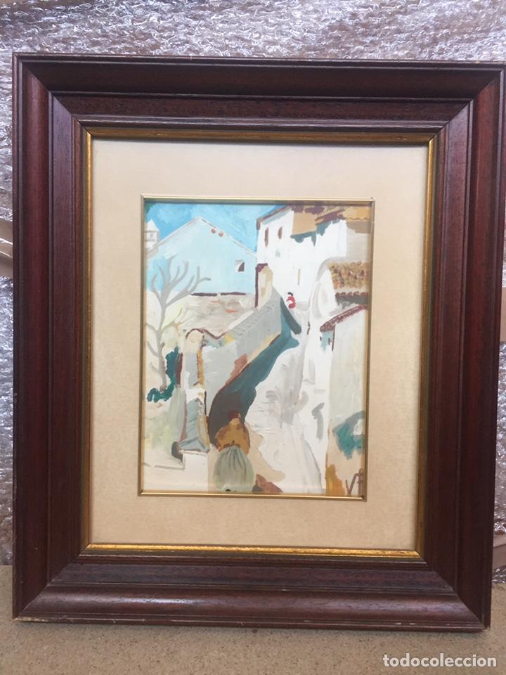PINTURA PINTADA SOBRE PAPEL/CARTÓN FIRMADA V.F (Arte - Pintura - Pintura al Óleo Moderna sin fecha definida)