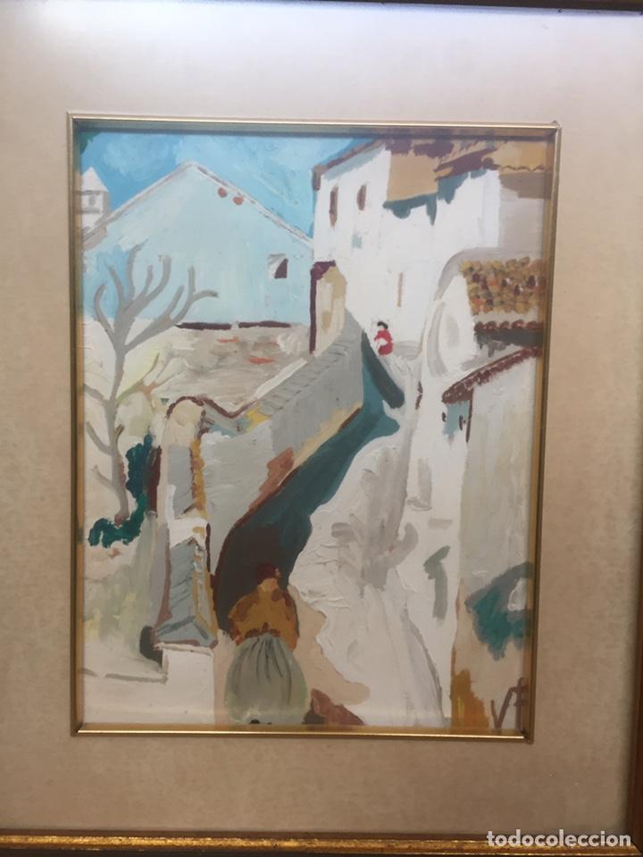 Arte: Pintura pintada sobre papel/cartón firmada V.F - Foto 3 - 158670838