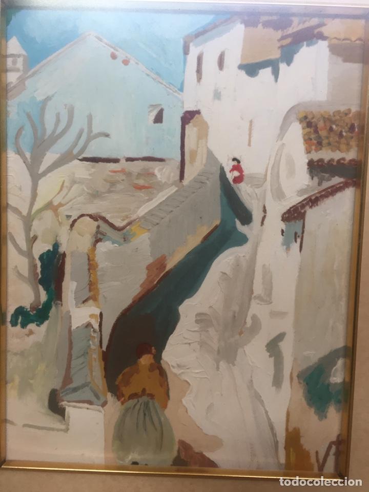 Arte: Pintura pintada sobre papel/cartón firmada V.F - Foto 4 - 158670838