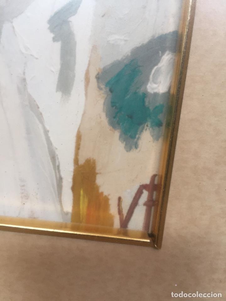 Arte: Pintura pintada sobre papel/cartón firmada V.F - Foto 6 - 158670838
