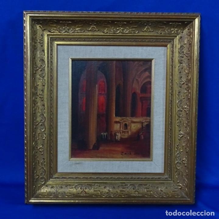Arte: Óleo sobre tabla firmado Zambrano.bien enmarcado. - Foto 2 - 158751466