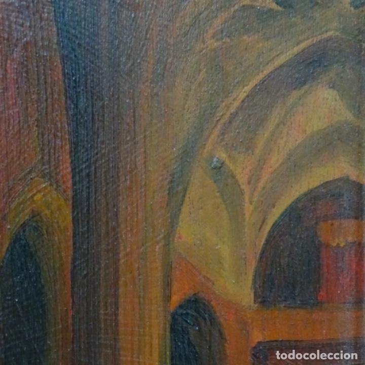 Arte: Óleo sobre tabla firmado Zambrano.bien enmarcado. - Foto 5 - 158751466