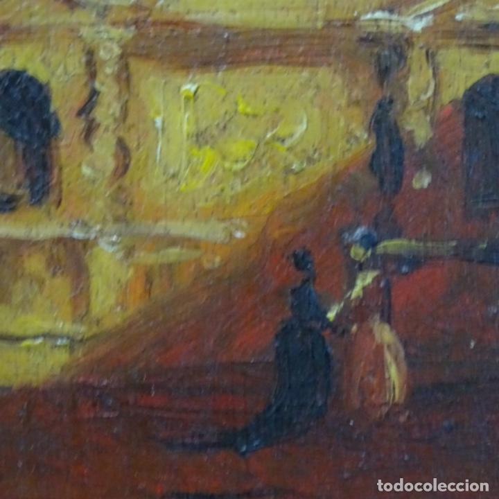 Arte: Óleo sobre tabla firmado Zambrano.bien enmarcado. - Foto 6 - 158751466