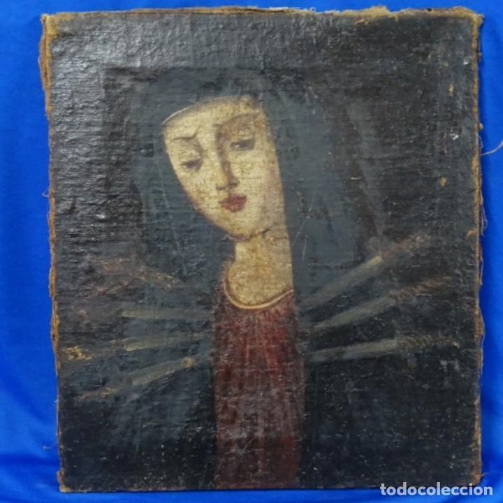 ANTIGUO ÓLEO RELIGIOSO SIGLO XVII.DOLOROSA. (Arte - Pintura - Pintura al Óleo Antigua siglo XVII)