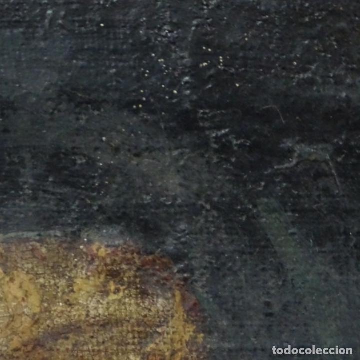 Arte: Antiguo óleo religioso siglo xvii.dolorosa. - Foto 10 - 158753318