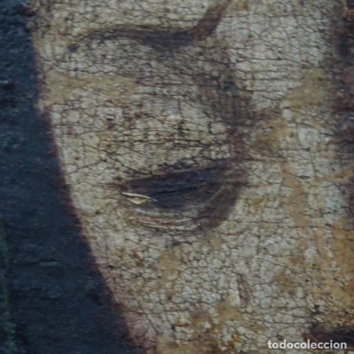 Arte: Antiguo óleo religioso siglo xvii.dolorosa. - Foto 12 - 158753318