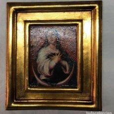 Arte: L004 CUADRO VIRGEN DE LA INMACULADO MARCO DORADO. Lote 158787334