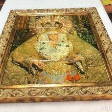 Arte: L031 CUADRO EN AZULEJOS CON MARCO DORADO VIRGEN MACARENA. Lote 158793158