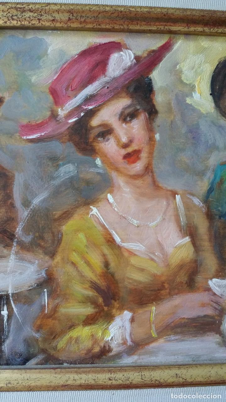 Arte: Luigi di Rocca, Café Chantant, óleo sobre tabla - Foto 4 - 158807602