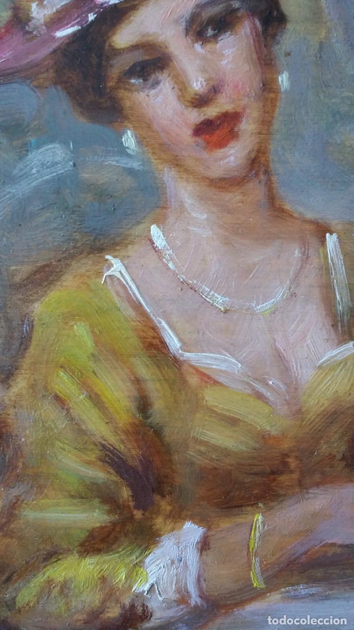 Arte: Luigi di Rocca, Café Chantant, óleo sobre tabla - Foto 5 - 158807602