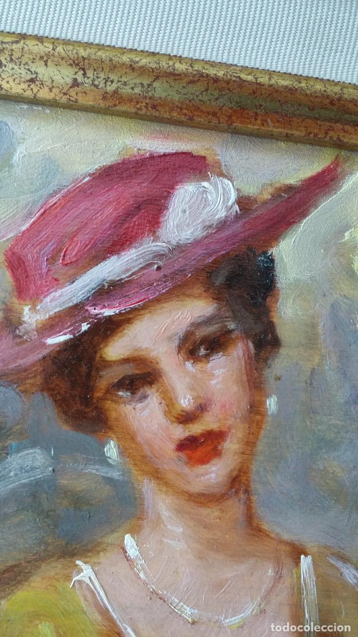 Arte: Luigi di Rocca, Café Chantant, óleo sobre tabla - Foto 6 - 158807602