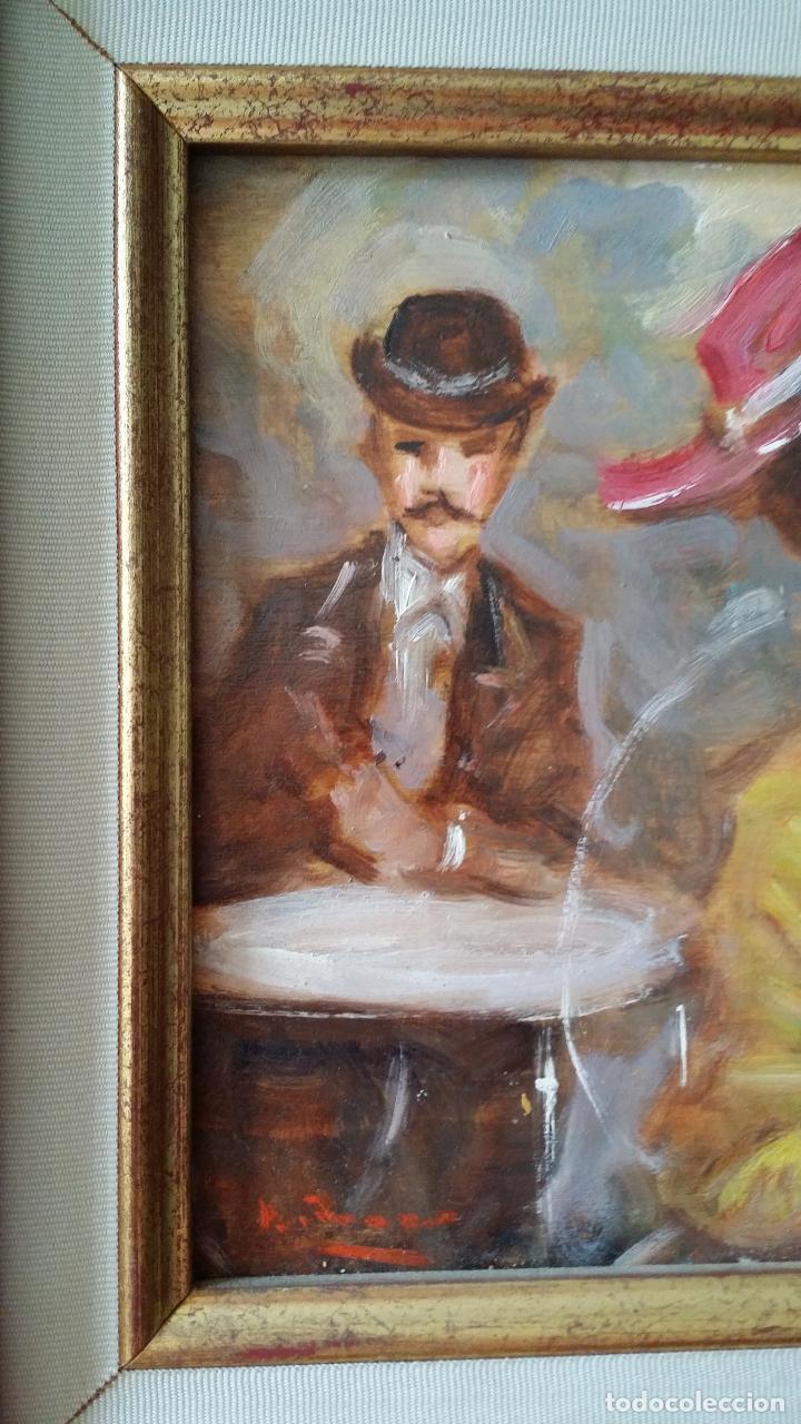 Arte: Luigi di Rocca, Café Chantant, óleo sobre tabla - Foto 9 - 158807602