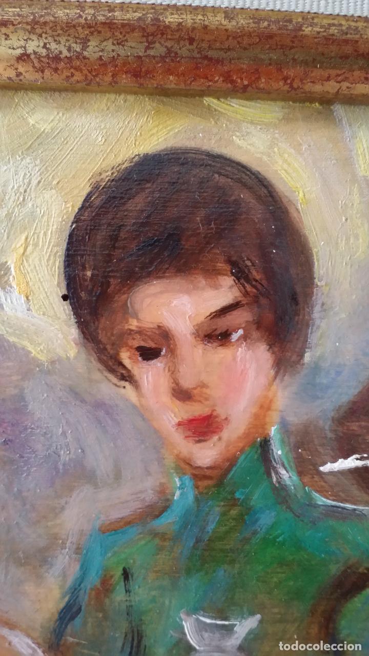 Arte: Luigi di Rocca, Café Chantant, óleo sobre tabla - Foto 11 - 158807602