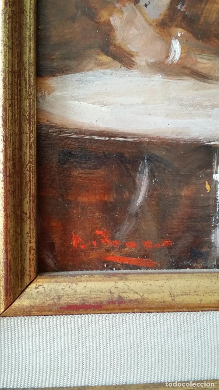 Arte: Luigi di Rocca, Café Chantant, óleo sobre tabla - Foto 12 - 158807602