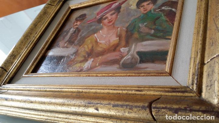 Arte: Luigi di Rocca, Café Chantant, óleo sobre tabla - Foto 13 - 158807602