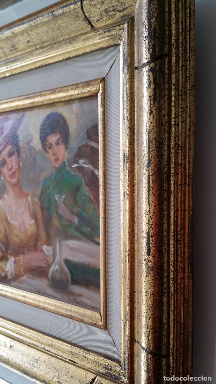 Arte: Luigi di Rocca, Café Chantant, óleo sobre tabla - Foto 15 - 158807602