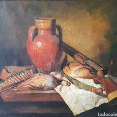 Arte: BODEGON DE CAZA - OLEO/TELA.FIRMADO.GRAN FORMATO.. Lote 158855408