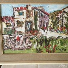 Arte: PINTURA AL ÓLEO SOBRE LIENZO DE JOSÉ MARÍA DE LA PUERTA. Lote 158892061