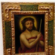 Arte: ÓLEO S/LIENZO -ECCE HOMO-. 62,5X53 CMS. ESC BARROCA SEVILLANA S. XVII CÍRCULO MURILLO. Lote 158931666