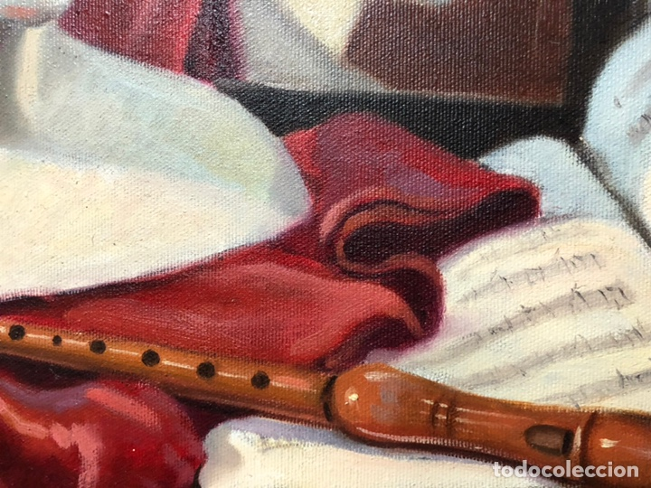 Arte: Cuadro al óleo sobre lienzo de Emilio Quílez Sierra La música (1995) - Foto 2 - 158952170