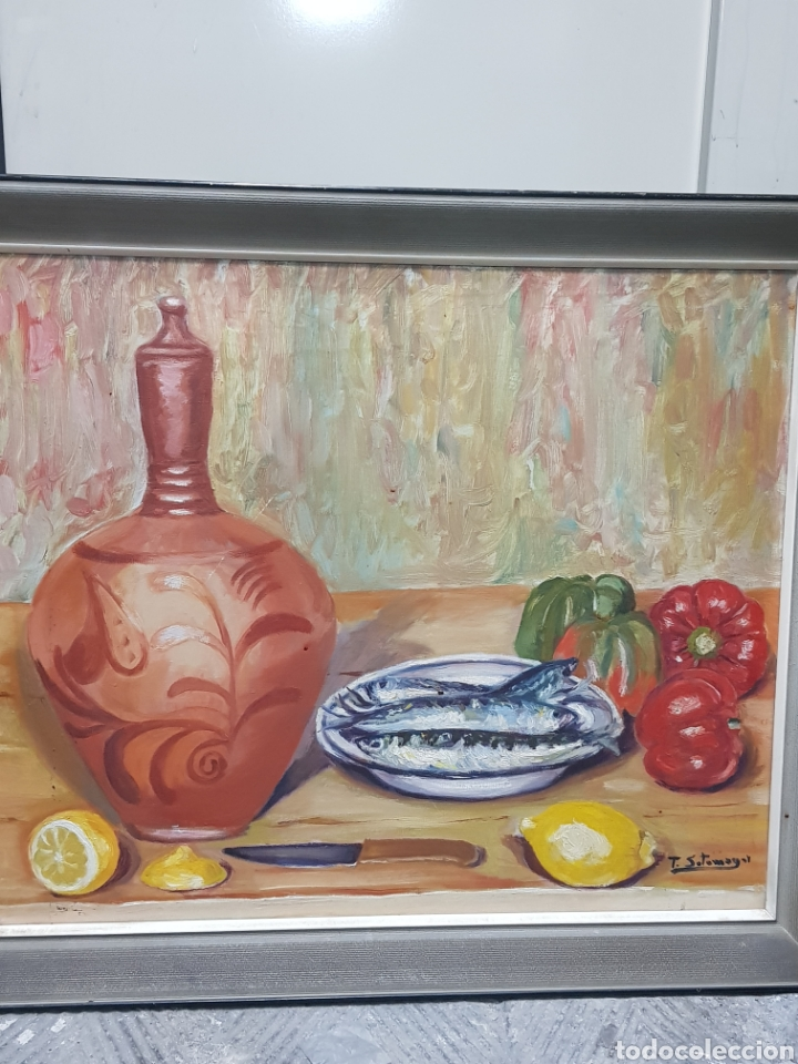 Arte: Óleo bodegón - Foto 2 - 158966261