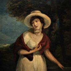 Arte: MAGNIFICO RETRATO DE DAMA INGLESA S. XVIII. Lote 158973674