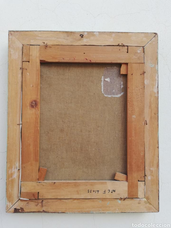 Arte: Cuadro retrato pintura a mano técnica espátula oleo sobre tela no firmada - Foto 4 - 159054032