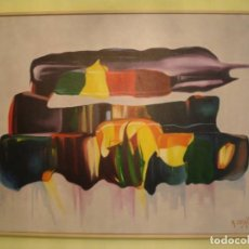 Arte: ÓLEO SOBRE LIENZO FIRMADO MEDIDAS 73X60 ENMARCADO CON MARCO DE CAJA BLANCO . Lote 159092890